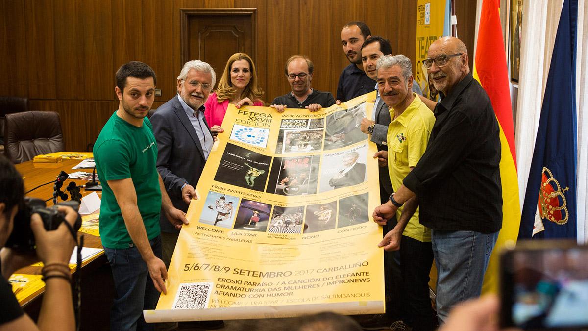 PRESENTANDO O FETEGA -FESTIVAL DE TEATRO GALEGO- EN OURENSE
